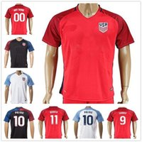 Wholesale Cheap American Shirts - 2017 2018 USA Soccer Jersey Cheap ZARDES PULISIC DEMPSEY LLOYD MORGAN BRADLEY ALTIDORE MORRIS DISKERUD Customize American Football Shirts