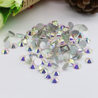 Wholesale Decorations Nails Flowers - Super glitter Nail art rhinestones Crystal AB ss3-ss30 Non HotFix FlatBack strass Wedding decoration rhinestones beads