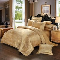 Wholesale Duvet Sets Silk - BZ610 European Jacquard design Bedlinen Queen King Size Duvet cover Set Silk and Cotton Bedding Sets