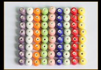 Wholesale Diy Loose Ceramic Beads - 2017 Trend Candy Color Loose Beads 8mm Round Ball Ceramic Bead 2mm Hole For DIY Bead Bracelet 100pcs A Lot 9 Colors