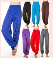 Wholesale Dance Yoga Wear - 2016 New Pattern Quality Goods No Generation Seoul Yoga Pants Closing Bloomers Dance Pants Tai Chi Pants Athletic Wear Yoga Serve Woman