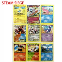 Wholesale Children Game - 2018 324pcs lot Poke Monsters STEAM SIEGE Cards Games 4 Styles Anime Pocket Monsters Cards Toys Children Card Toys