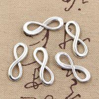 Wholesale Connector Bracelet Charm Vintage - Wholesale- 30pcs Charms infinity symbol connectors 23*8mm Antique charms pendant fit,Vintage Tibetan Silver,DIY for bracelet necklace
