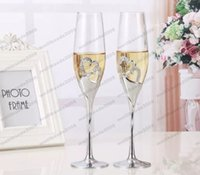 2017 NEW Crystal Wedding Toasting champagne flauti Occhiali Cup Wedding Party decorazione matrimonio tazza per regalo Wine Drink MYY