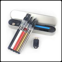 pluma táctil de aluminio al por mayor-Bud Touch O Pen CE3 Kit Vaporizador Plumas E-cigarrillo CE3 Bud Kits 510 Hilo Tanque CE3 BUD Touch Batería 280 mah con caja de aluminio
