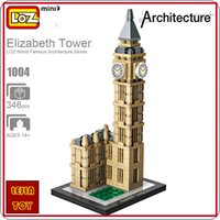 Wholesale London Model - LOZ ideas Mini Block Elizabeth Tower Big Ben London Clock England Architecture Building Blocks DIY Toy BIGBEN Model Educational Toy 1004
