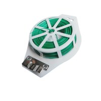 Wholesale Spool For Line - 164ft 50m Green Plastic Twist Tie Wire Spool roll with Cutter for Garden Yard Plant Green PVC Twist Tie Line