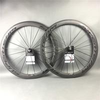 ingrosso le ruote clinchers-originale! superteam opaco full carbon strada bici da bicicletta ruote copertoncino tubolare nero ruota in fibra di carbonio con superficie frenante basalto