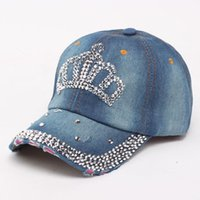 Wholesale Bone Jeans - Wholesale- Baseball Cap Men Women Snapback Caps Brand Golf Hats For Women Visor Bone Jeans Denim Blank Gorras Casquette Crown 2017 De28