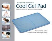 Wholesale mattress cool - pet cool gel pad summer dog cool gel mat Cooling Pillow Bed Mattress Topper Yoga Car Pet