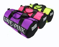 Wholesale Wholesale Tote Bag Luggage - Hot Sale!Men Women Pink Canvas Handbags Love Pink Travel Storage Bag Organizer Large Fashion Sports Casual Beach Exercise Luggage Bags Tote