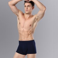 Wholesale Sexy C Boxers - 3-Pack male men underwear Boxer shorts Solid color Bamboo Fiber sexy Style cozy mens underpants cueca XXXL boxer homme man c*