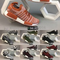 Wholesale Tracing Tables - Originals NMD R1 STLT Spring summer 2018 line up Men Running Shoes Trace olive Core black Grey Red Women NMD_R1 Sneakers US 5-11
