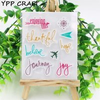 Vente en gros - YPP CRAFT Profitez de ces timbres de silicone transparents transparents pour le bricolage Scrapbooking / Card Making / Kids Christmas Fun Decoration Supplies