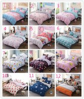 Wholesale Microfiber Sheet Set Full - 2017 new New 24style Fashion Bedding Set 4pcs Duvet Cover Sets Soft Polyester Bed Linen Flat Bed Sheet Set Pillowcase Home Textile Drop Ship