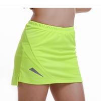Wholesale Sports Skirt Tennis - New Tennis Skorts Fitness Short Skirt Badminton breathable Quick drying Women Sport Girls Ping pong table Tennis Skirts
