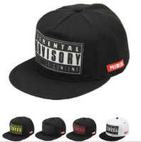 Wholesale 2017 letter rubber bones snapback brand parental advisory casquette Gorras hiphop cap summer casual women men hat flat