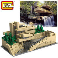 Wholesale Block Country - Loz World Famous Architecture Frank Lloyd Wright Country House Mini 3D Model Building Blocks Assembly Bricks Toys for Children
