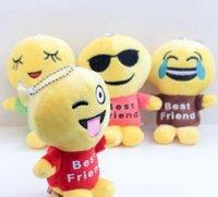 Wholesale Tv Sizes Cm - 1Pc Cute Emoji Doll for Best Friends Children Soft Stuffed Plush Toy Doll (Size: 12 cm, Color: Multicolor)
