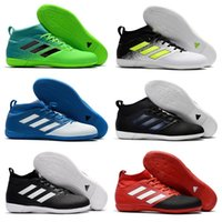 Adidas Originals 2018 ACE Tango 17.3 IC Purecontrol Indoor IN TF Botas de fútbol Hombres Soccer Cleats Mejor calidad ACE 17.3 Primemesh Shoes