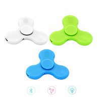 Wholesale Triangle Mini Speakers - Fidget Spinner With Bluetooth Speaker LED Light Handspinner Plastic Triangle Leaf Spiners Crab Claw Anti-Anxiety Decompression Toys EDC New