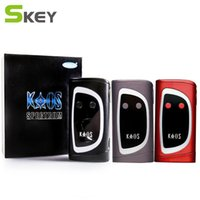 Wholesale Big Led Display - Authentic Sigelei Kaos Spectrum Box Mod 230W 0.96TFT Big Oled Display Vape Mod 6 Changeable LED Color Bar 230Watt 100% original
