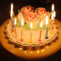 golpe de juguete al por mayor-10 Unids Magic Relighting Velas Divertido Tricky Toy Birthday Eternal Blowing Velas Fiesta Broma Decoración de La Torta de Cumpleaños