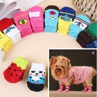 Wholesale Dog Cat Shoes - low price ( mix Multicolor Size S M L XL )Dog & Cat Socks Design pet Socks 40pcs lot=10sets lot Mixed order pet Socks