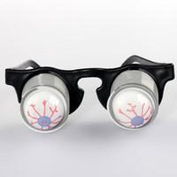 Wholesale Pop Eyes Animal Toy - CosplayPrank Joke Toy Funny Horror Pop Out Eyes Glasses Dropping Eyeball Glasses for Halloween Costume Parties Joke Gift Pop Out Eye Glasses