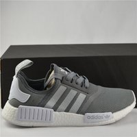 Wholesale Classic Women Running Shoes - Adidas NMD Runner R1 Primeknit 2017 White OG Black Best Kicks Men Women Running Shoes Sneakers Originals Classic Casual Shoes With Box