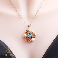 Wholesale Accessories Girlfriend - Cheap Rose gold necklaces crystal jewerly accessories Zinrcon copper pendant necklace gift For Lover or girlfriends