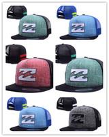 Wholesale Truck Caps Men - Newest Hot Cheap Fashion Billabong Snapback Caps Hats Men Women Sport Summer Truck Mesh Cap Hip Hop lorry Adjustable Hat