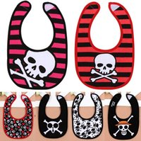 Wholesale Childrens Clothes Free Shipping - Baby Bibs Infant Skull Burping Cloths Kids Burp Cloths Childrens Baby Bib Newborn Baby Clothes Free Shipping
