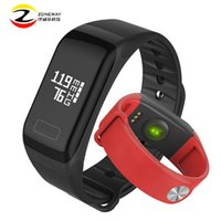 Wholesale mobile heart rate monitor - Wholesale- Waterproof Smartband F1 Silicone Material Wristbands Sports Intelligent Bracelet With Mobile Phone Calls Heart Rate Monitor