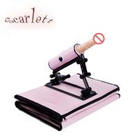 Wholesale Automatic Penis Machine - New female automatic masturbation device, adult supplies, plug simulation, penis female gun, bed machine