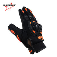 Wholesale Motocross Protect - Wholesale- Motorcycle Gloves Men Cycling Racing Summer Motocross Moto Glove Motorbike Full Finger Bike Protect Motocicleta Guantes Luvas