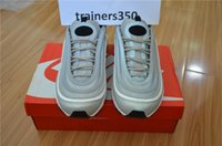 Wholesale Bullets Light - Mens Athletic Maxes 97 QS Silver Bullet Running Shoes Sport Fashion Maxes Black Gold Run Trainer Sneaker Shoes US7-US11