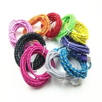 Wholesale Iphone Woven Charger - 2017 New Best Price 1M 3Ft Micro USB Cable Plastic Nylon Fabric Braided Woven Data Sync Charging Cables Charger Wire 10 Colors