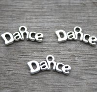 30pcs-Dance Charms, antique tibétain argent Tone dance charme pendentifs 9x20mm