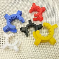 Wholesale Cheap Lab Glass - Cheap 14mm 19mm joint size Plastic Keck Clip Color Plastic Keck Laboratory Lab Clamp Clip for Glass Bong Glass adapter Nectar Collector