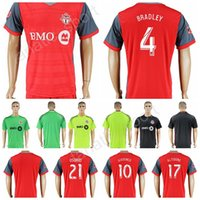 Wholesale Club 33 - Toronto Football Club Toronto FC Soccer Jersey 17 18 Custom 2 MORROW 3 MOOR 7 VAZQUEZ Football Shirt 8 CHEYROU 33 BEITASHOUR 87 RICKETTS