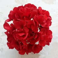 20cm Hydrangea Head Artificial Flowers DIY Silk Chine Hydrangea Fake Flowers pour la décoration du mariage à domicile 10 couleurs disponibles
