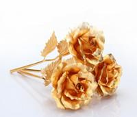 Wholesale valentines day arrival gifts online - Golden Rose Naked Flower Valentine Gift Send Girlfriend Boutique Originality Gruaud Larose New Arrival Chateau Gruauds Laroses jp R