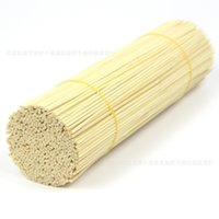 Wholesale 3mm Cotton - Wholesale- 100pcs Pack Bamboo BBQ Kebab 3mm* 30cm Skewers Satay Chocolate Cocktail Grill Stick Party