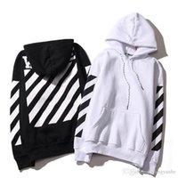 Wholesale Stripe Cardigan Men - Lovers Men's Stripe Hoodies OFF-WHITE Sweatshirts Causal Hip Hop Cool Brand Designer Men Jesus Arrow Angel Cotton Hoodie Shirt