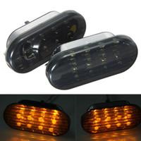 Wholesale Jetta Side Marker - Pair Amber Smoke Side Marker Turn Light 8LED For VW Volkswagen Golf Jetta Passat