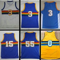 Throwback Basketball Jersey Rainbow Allen Iverson Carmelo Anthony Emmanuel Mudiay Camisa Kenneth Faried Nikola Jokic Danilo Gallinari Mutombo