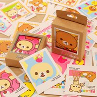 Wholesale Rilakkuma Greeting Card - Wholesale-E36 40pcs Cute Kawaii Mini Rilakkuma Lomo DIY Postcard Post Greeting Card Picture Decor Message Leave Cards