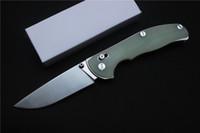 faca de jade venda por atacado-Miker tabargan 95 faca dobrável 9Cr18Mov lâmina Jade lidar com sistema de eixo ao ar livre Sobrevivência acampamento caça Tático facas de bolso EDC ferramenta