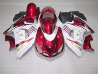 Wholesale White Zx14r - Injection molded 100% fit for Kawasaki Ninja ZX14R 06 07 08-11 wine red white fairings set ZX14R 2006-2011 OT18
